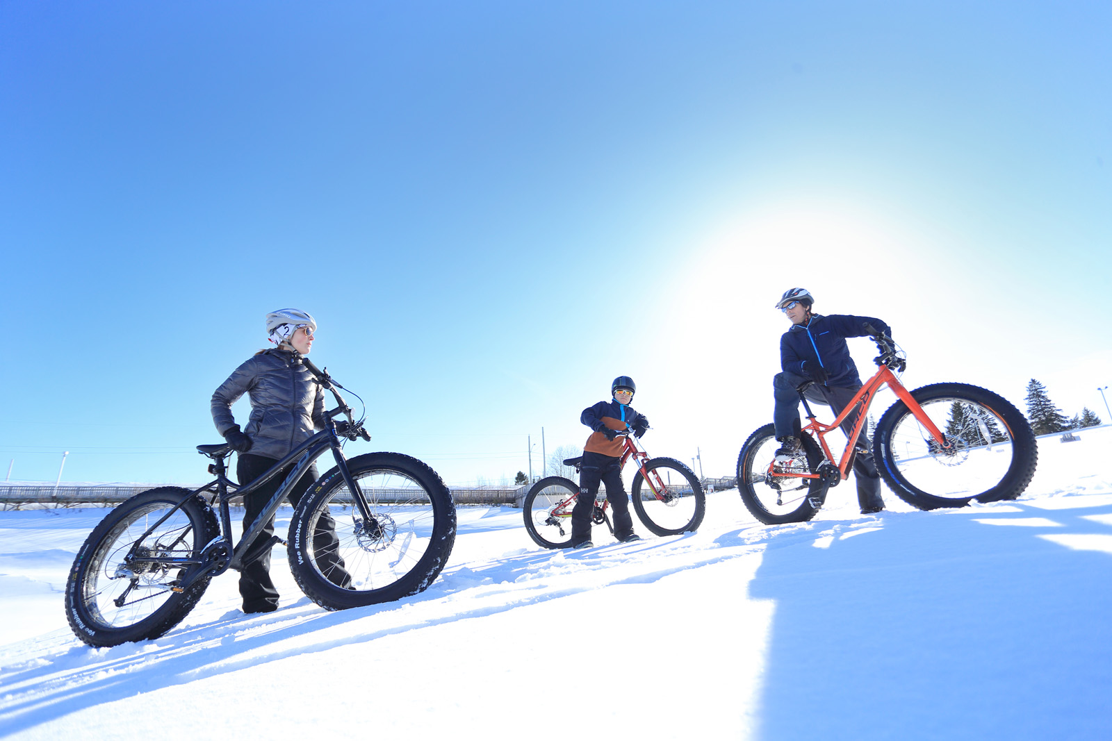 Fat Bike and mountain bike